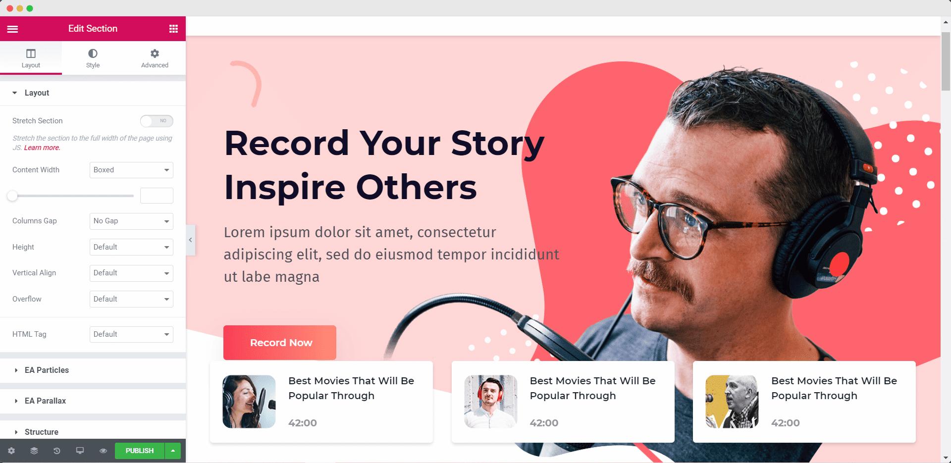Design Your Podcast Website In WordPress In 5 Minutes [Elementor Template] 11