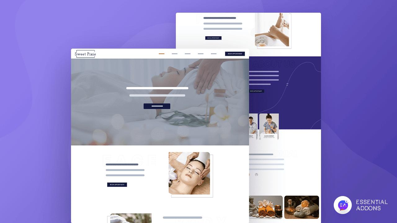 spa website template