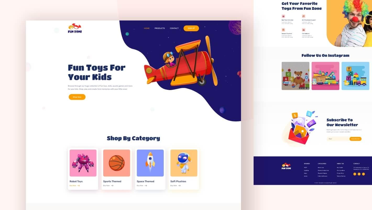 Online Toy Store Elementor