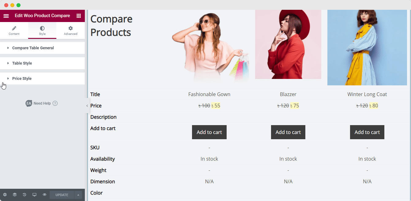 Woo Product Compare