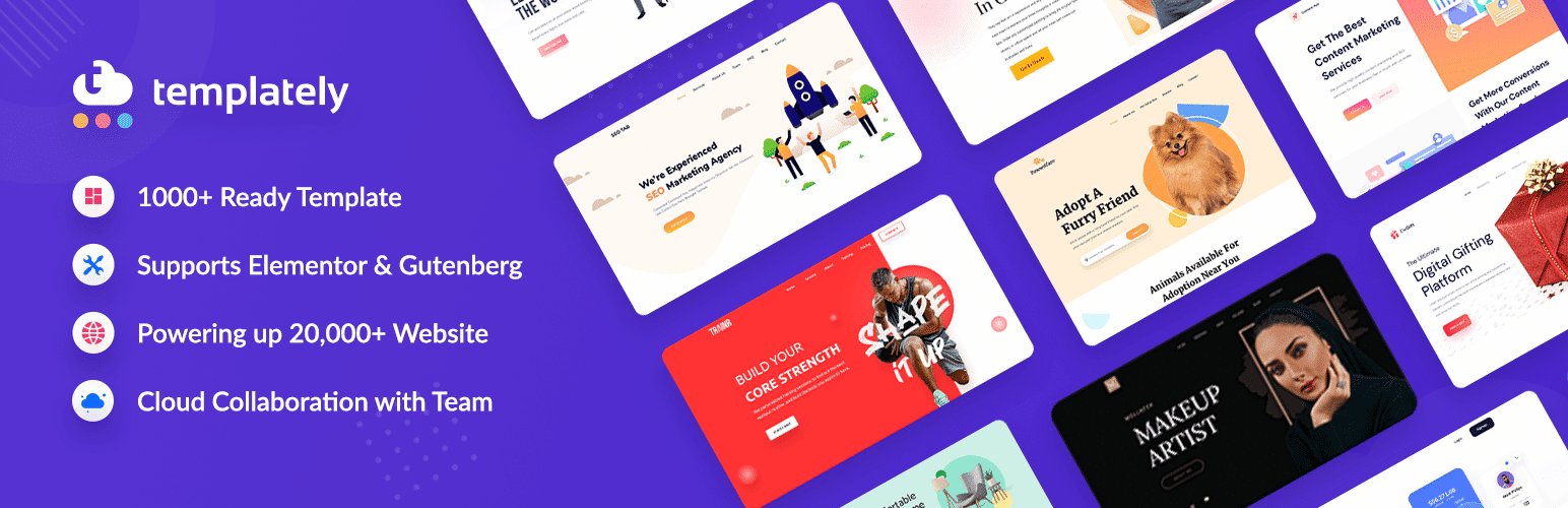 Templately Hits 20,000 Happy Users With 1000+ Ready Elementor Templates 7