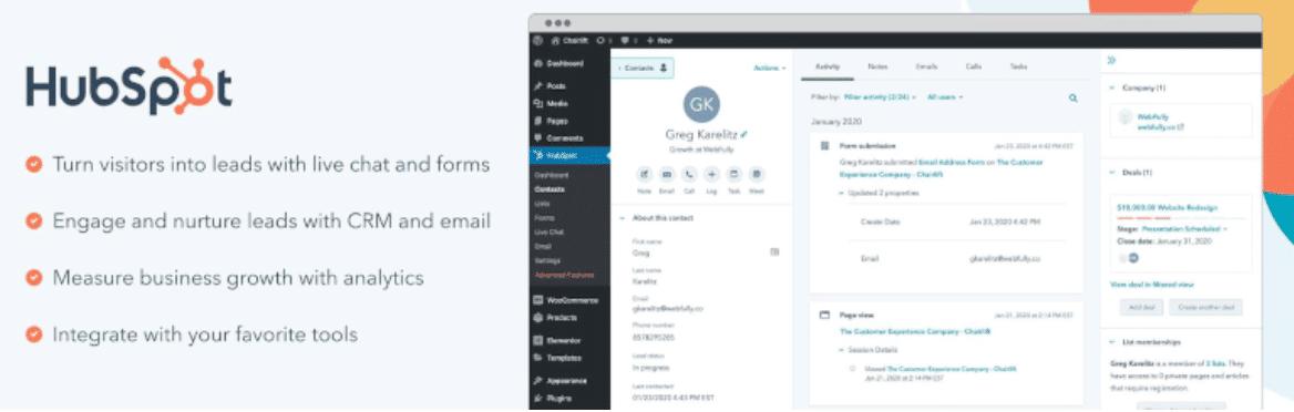 WordPress CRM Plugin HubSpot