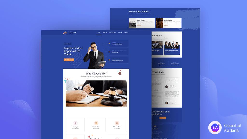 Lawyer Portfolio Website