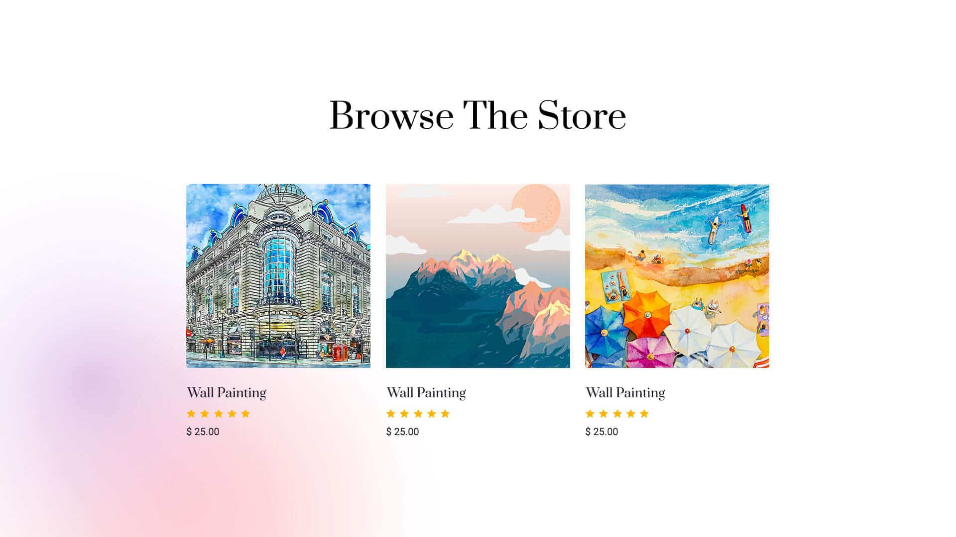 website for artist