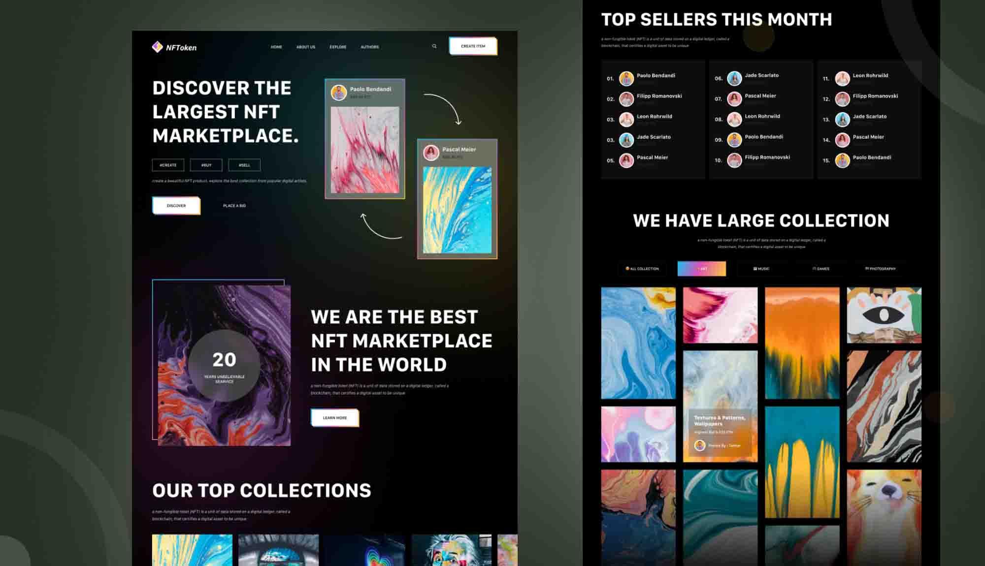 NFt marketplace website