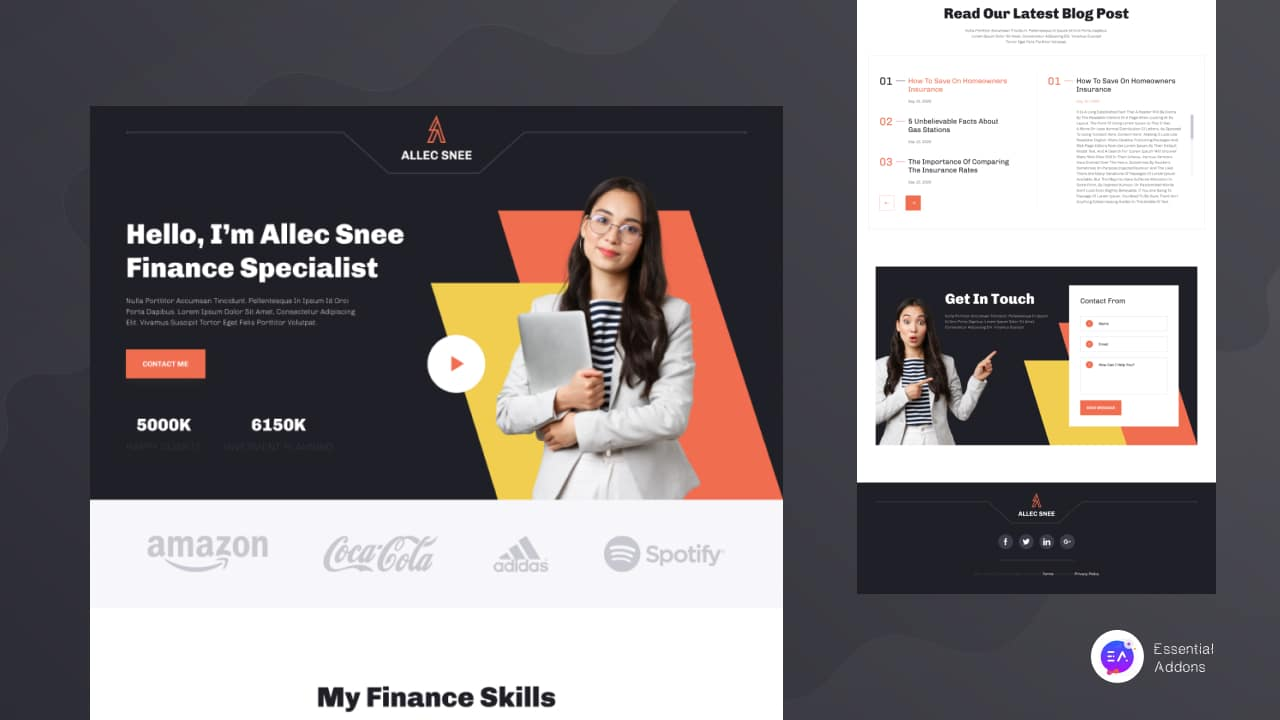finance portfolio website