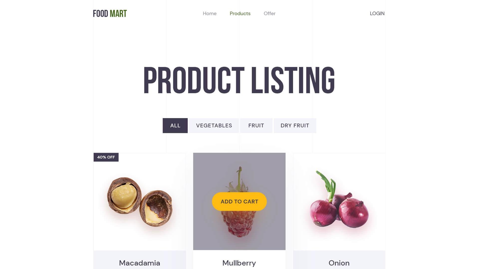 Online Grocery Shop Website On WordPress