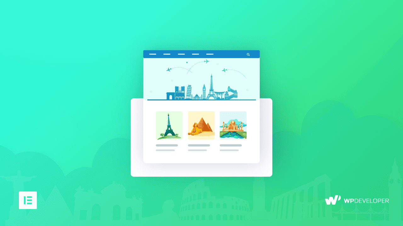 How To Create a Impressive Travel Landing Page Within Minutes Using Elementor 11
