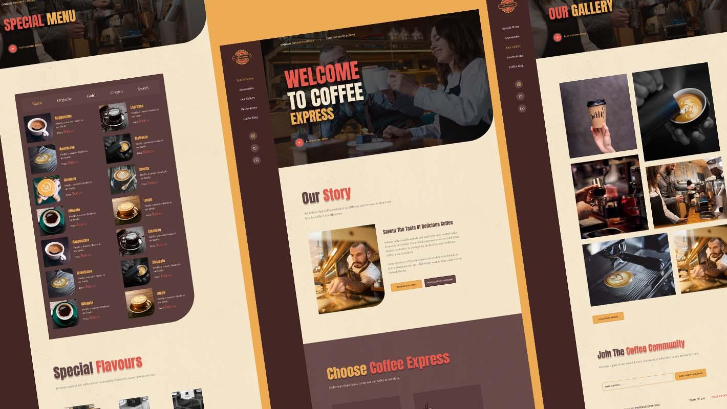 Coffee Shop Website