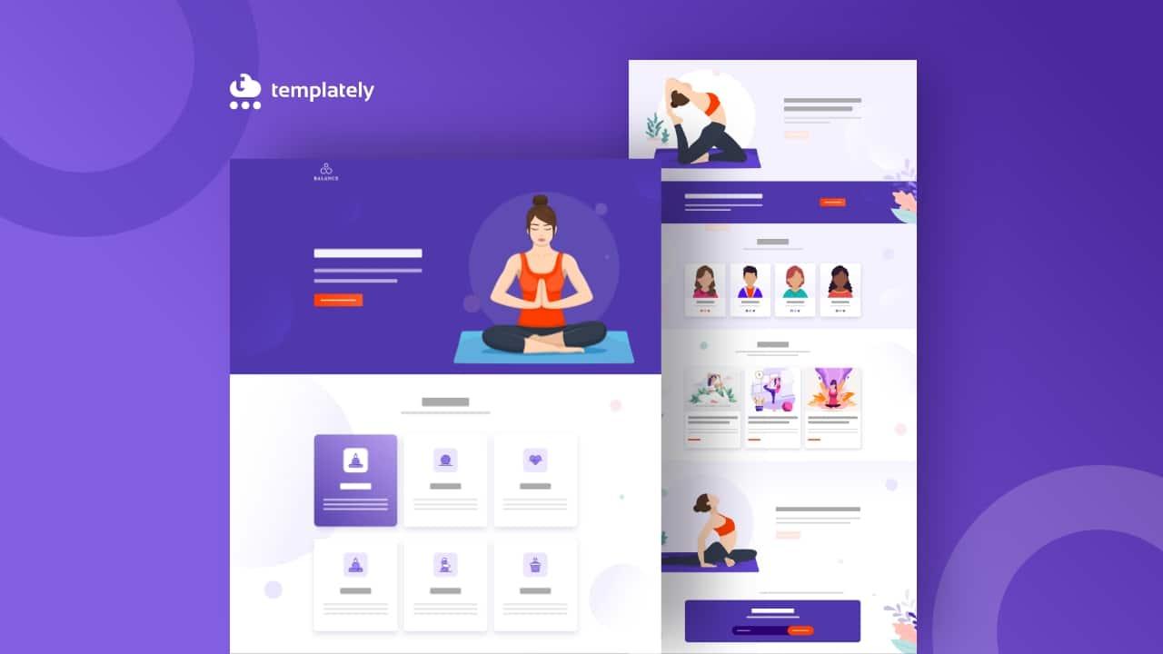Yoga Website using Elementor