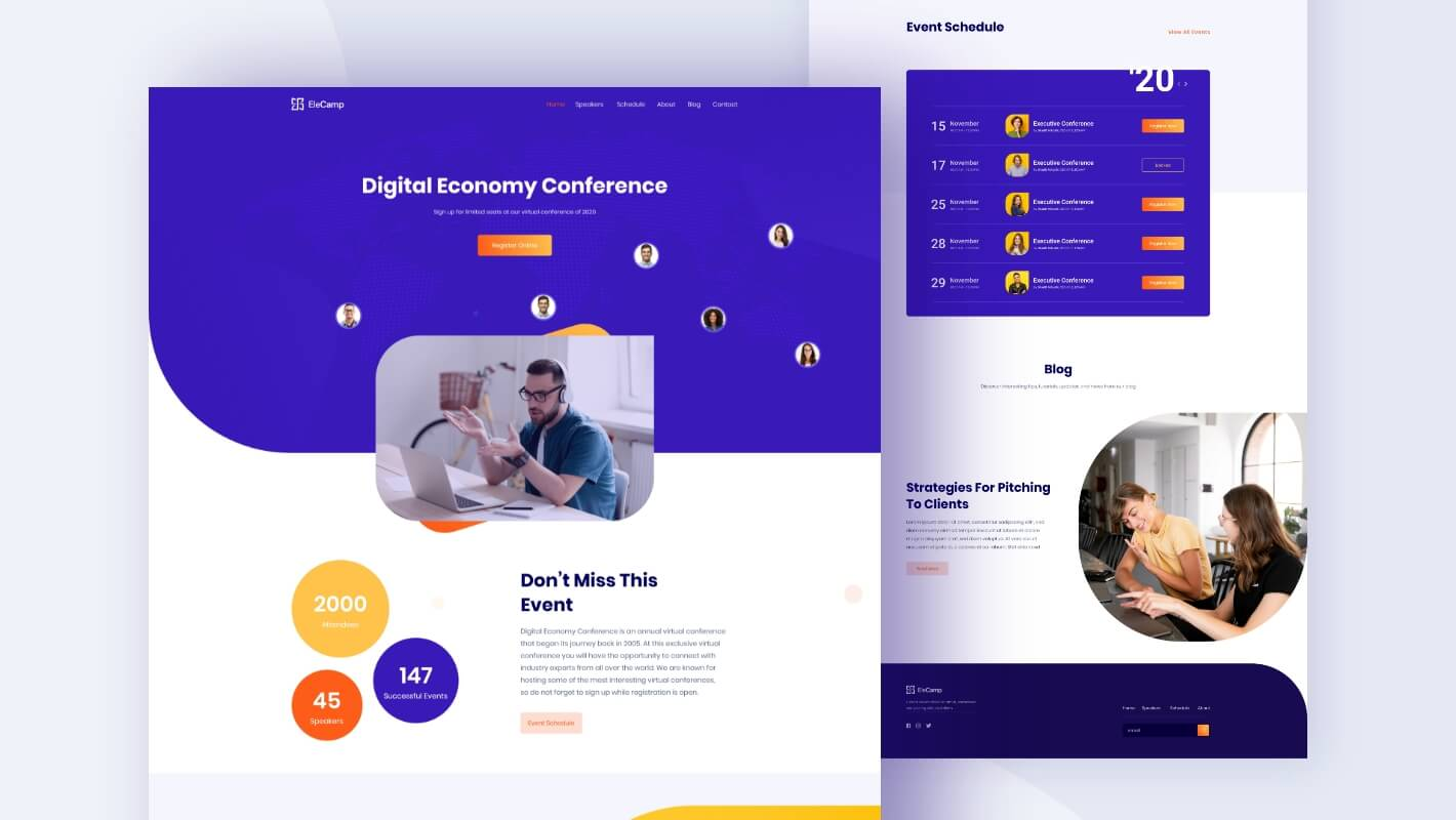 Virtual Conference Website