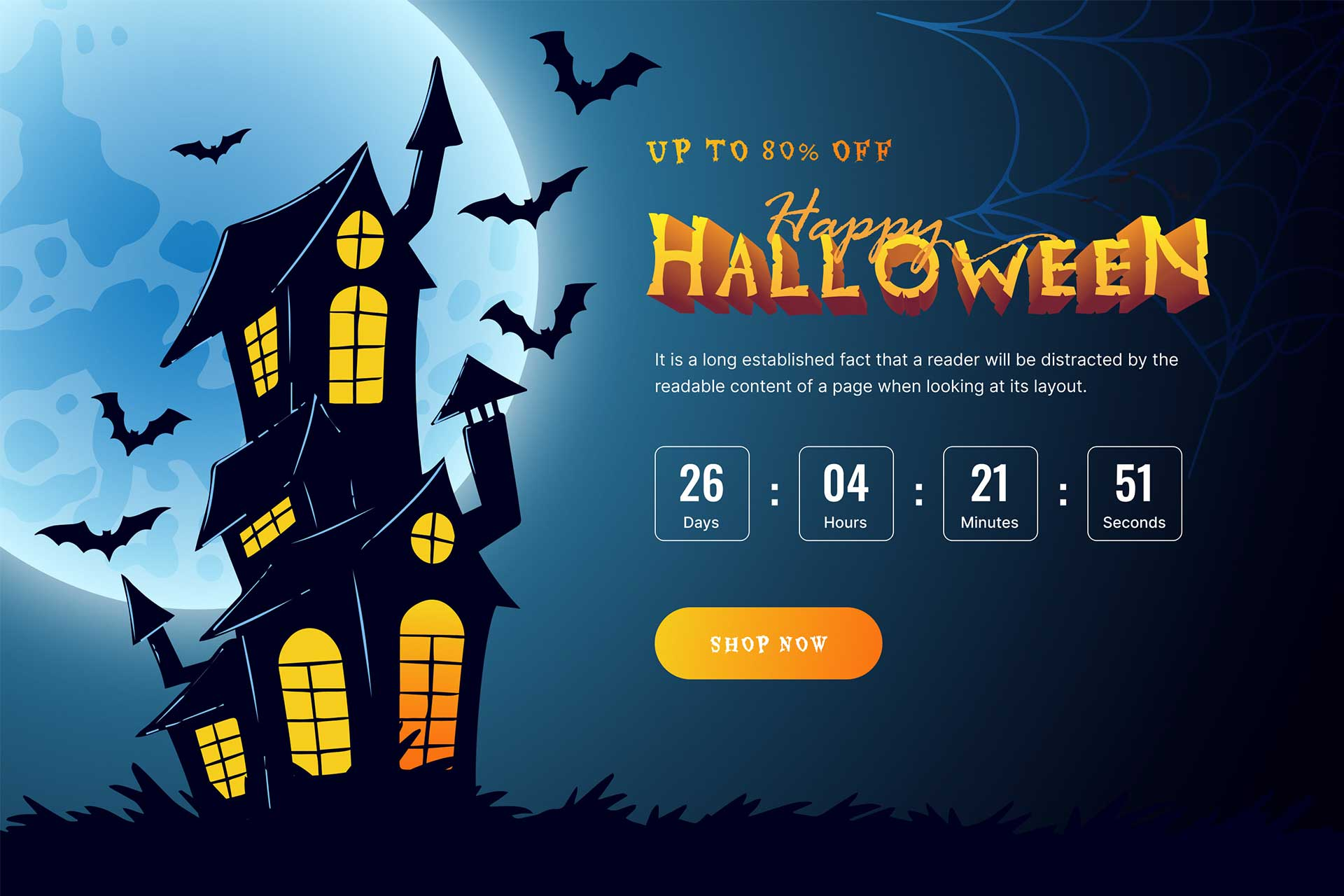 How To Create A Spooky Halloween Website With 1 Click Using Elementor Ready Template [Freebies] 1